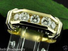 1.00 ct 14k 2 tone Gold  Men's Natural Diamond Ring 9.00 Grams  Channel set