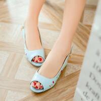 Retro Swwet Womens Peep Toe Kitten Heels Ankle Strappy Shoes Casual US4.5-10.5