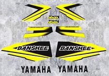 98' 1998 Yamaha Banshee Yellow/Black Decals Stickers Quad Graphics 10pc kit