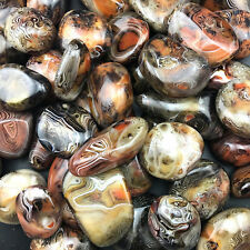 1000g Madagascar Banded Agate Alarge Tumbled Beautiful Patterns Randomly Send