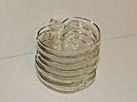 """Set of 6 - HAZEL ATLAS, 1950 - Orchard Pattern Glass Apple 5"""" Salad Fruit Bowls"""