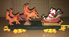 Toy State North Pole Christmas Express Santa And Reindeer Car Train
