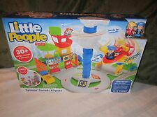 Fisher Price Little People NEW Spinnin Spinning Sounds Airport Plane sounds fly