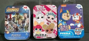 Marvel Avengers Infinity War Puzzle In Tin 48Pc LOL puzzle 24pc paw patrol 24pc
