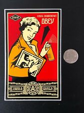 Vintage Shepard Fairey Stay Up Girl Sticker From Print Obey Giant