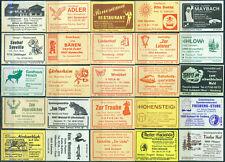 25 alte Gasthaus-Streichholzetiketten aus Deutschland #861