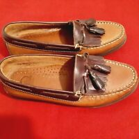 Decoys by Auditions BROWN  Amazonas LEATHER  LOAFER LOW HEEL Slip on WOMEN'S  8M