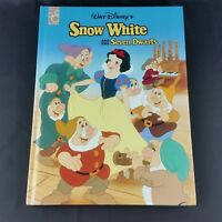 Snow White and The Seven Dwarfs Disney Large Hardcover Mouse Works 8.5 x 11.5