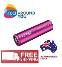 1-2 PCS Efest IMR 14500 Li-Mn 650mAh 9.75A Flat Top Vape Rechargeable Battery