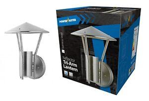 PowerMaster Outdoor Tri-Arm Pagoda Reflector Wall Lantern – IP44 Rated