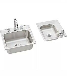Elkay DRKR23417RC Sink, Satin
