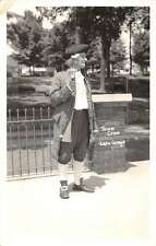 Lake George New York Town Crier Costume Real Photo Antique Postcard K30755