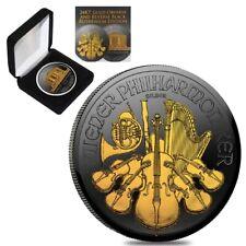 Sale Price - 2019 1 oz Austrian Silver Philharmonic Coin Black Ruthenium 24K