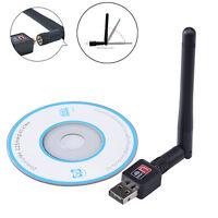 802.11n/g/b 150Mbps Mini USB WiFi Wireless Adapter Network LAN Card w/ Antenna