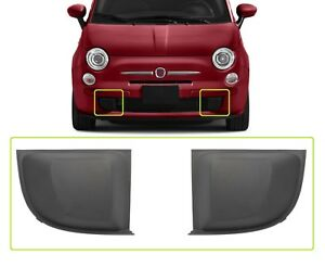 Fiat 500 2007-2015 Front Bumper Lower TRIM COVER Moulding Set LEFT+RIGHT Pair