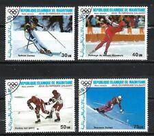 JO Hiver Mauritanie (23) série complète de 4 timbres oblitérés