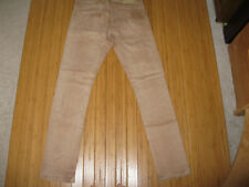 Men's BENCH Jeans Brown/Tan Skinny Distressed Stretch Button-Fly Pants Size 30