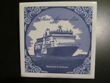 HOLLAND AMERICA CRUISE LINE delft tile VEENDAM MAASDAM new version