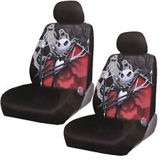 New Nightmare Before Christmas Jack Gostly Car Truck 2 Front Seat Covers Set