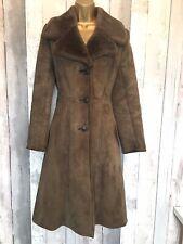 Ladies Richard Draper Full Sheepskin Coat Vintage Size 8 Shearling 1970's