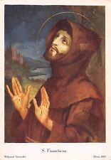 B99144 s franciscus  wijnand geraedts painting  religious postcard
