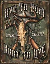 Hunt To Live  Vintage Style Metal Signs Man Cave Garage Decor 69