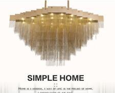 120cm Modern LED tassel chain pendant lamp living room luxury villa light