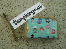 PREOWNED FLUFF COSMOPOLITAN GIRL SMALL WALLET WRISTLET CLUTCH CARD HOLDER BAG