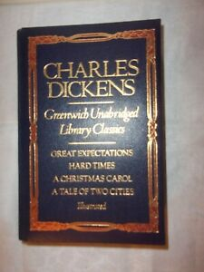 BOOK CHARLES DICKENS GREENWICH UNABRIDGED LIBRARY CLASSICS  LEATHER BOUND 1982