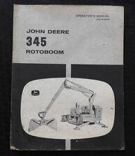 1963 JOHN DEERE 1010 2010 JD500 JD600 TRACTOR 345 ROTO-BOOM OPERATORS MANUAL