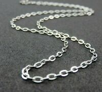 "2.6mm Wide Stainless Steel Mens Womens Belcher Chain - 18 22 26"" Unisex Necklace"