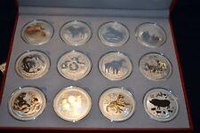 2008-2019 Australia Lunar Series II (12-2 oz Coins) w / Presentation Box