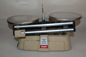 Mechanical Double Beam Scale -- Harvard Trip Balance Ohaus -- 2 kg-5 lb Capacity
