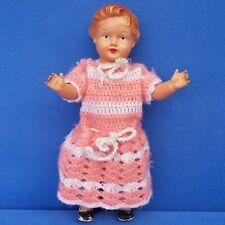 Vieja celluloid/tortulon muñeca 28 cm Doll poupee Vintage