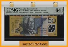 TT PK 60c 2005 AUSTRALIA RESERVE BANK 50 DOLLARS PMG 64 EPQ CHOICE UNCIRCULATED!