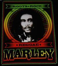 New Bob Marley Roots of Reggae Plush Fleece Throw Gift Blanket Rasta Rock SOFT