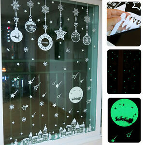 Merry Christmas Removable Wall Window Stickers Art Decals X MAS Home Shop Decor
