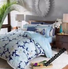 3pc Sky Gardenia Twin Duvet Comforter Cover Set Blue Floral Bloomingdales $330