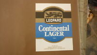 OLD NZ NEW ZEALAND BEER LABEL, LEOPARD BREWERY HASTINGS, CONTINENTAL LAGER 1