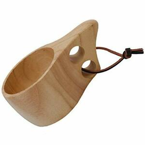 Portable Wodden Cup Nordic Style Kuksa Camp Cup Outdoor Coffee Mug