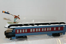 Lionel #85400 The Polar Express skiing hobo observation car Snow on Roof