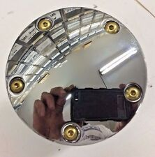 BRASS BUTTON 5 HOLE CHROME DOMED TIMING COVER hd harley twin cam big twin points