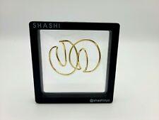 SHASHI 18K Gold Plated Double Hoop Earrings
