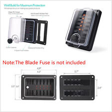 IP56 Waterproof 10-Way 250Amp ATC ATO Blade Fuse Box Holder Block LED Indicatior