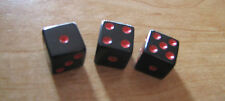 3 Black Red Dice Control Knobs for Split Shaft Gibson Gretsch Fender Guitar A-11