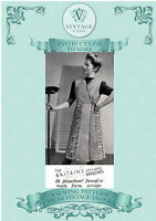 "Vintage sewing pattern-make a 1940s wartime utility apron-40-46"" paper pieces"