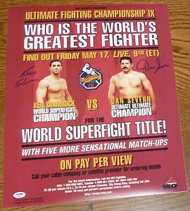 Ken Shamrock & Dan Severn Signed UFC IX 9 16x20 Photo Poster PSA/DNA COA Auto'd