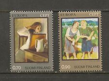 Finland #572-573 Vf Mnh - 1975 Paintings - Europa - Scv $6.00