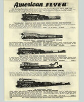 1954  Paper Ad 3 Pg Train American Flyer Challenger Chief Silver Flash Rocket