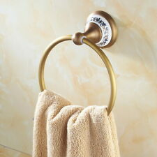 Antique Brass Wall Mounted Towel Ring Bathroom Hardware Bath Accessories fba413